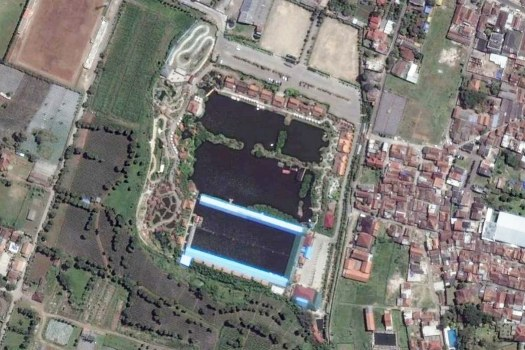Floating Market Lembang Google Earth